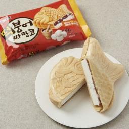 Kem bánh Lotte vị đậu đỏ